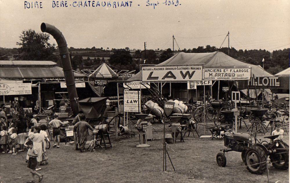 Foire de Béré, Chataubriant, en septembre 1949